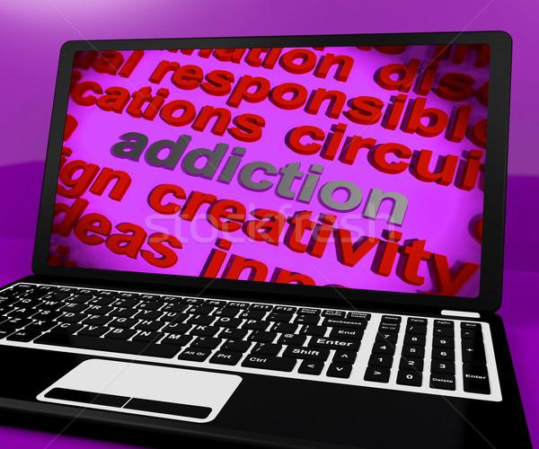 Bağımlılık ekran saplantı bağımlılık bilgisayar Stok fotoğraf © stuartmiles