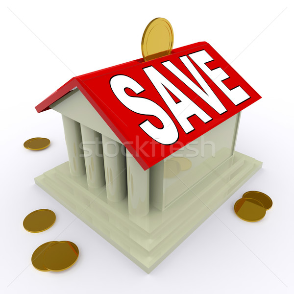 Save On House Means Saving For Deposit Or Home Stock photo © stuartmiles