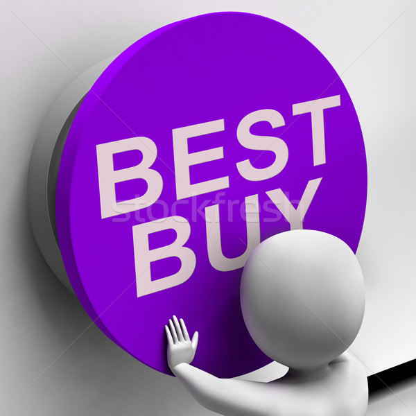 Best Buy Button Shows Top Quality Product Stock photo © stuartmiles