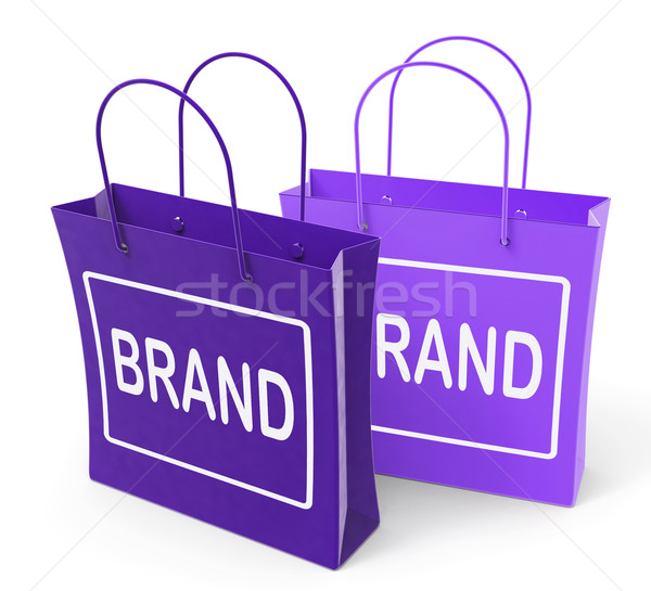 Brand Bags Show Branding Product Label or Trademark Stock photo © stuartmiles