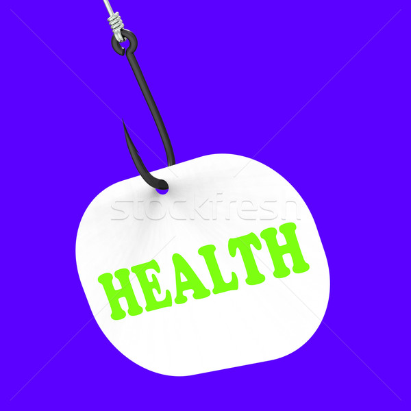 Health On Hook Shows Medical Care Or Wellbeing Stock photo © stuartmiles