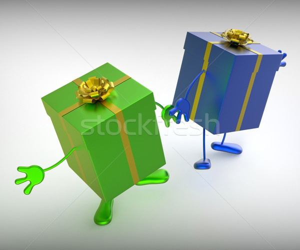 Foto stock: Presentes · compras · perfeito · dom · significado