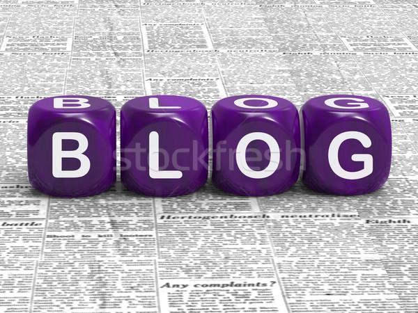 Blog dados informação opinião marketing significado Foto stock © stuartmiles