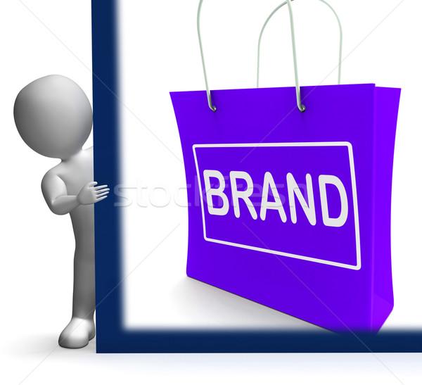 Márka vásárlás felirat branding védjegy címke Stock fotó © stuartmiles