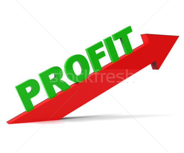 Increase Profit Means Upwards Raise And Revenue Stock photo © stuartmiles