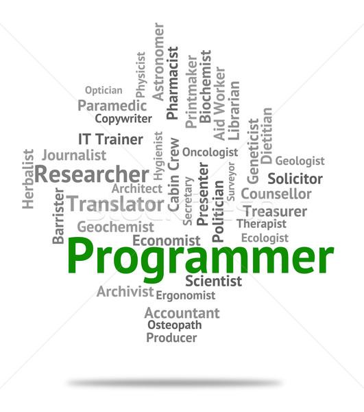 Programador Trabajo reclutamiento software ingeniero Foto stock © stuartmiles