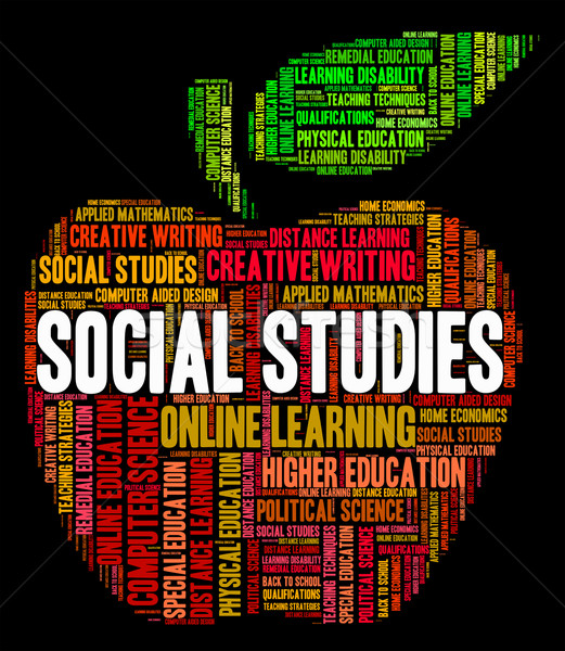 Social Studies Shows Common Studying And Study Stock photo © stuartmiles
