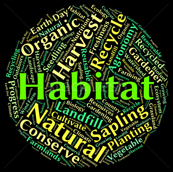 Habitat Word Shows Animal Text And Dwelling Stock photo © stuartmiles