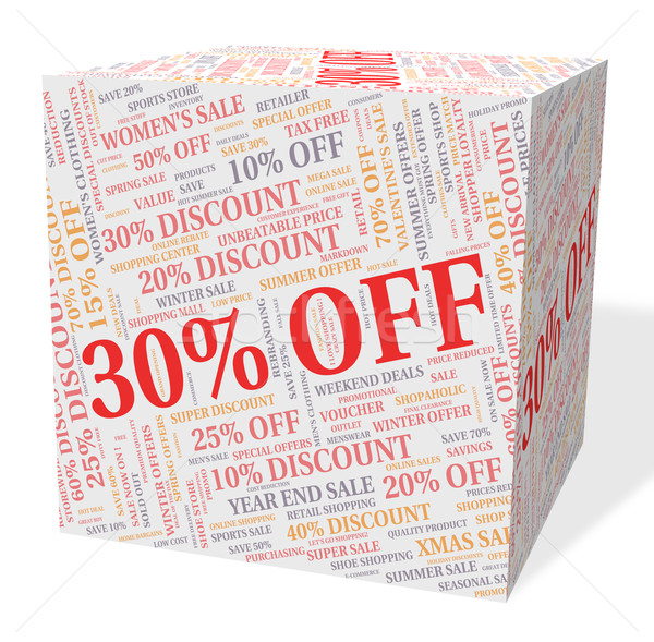 Thirty Percent Off Indicates Reduction Bargains And Bargain Stock photo © stuartmiles