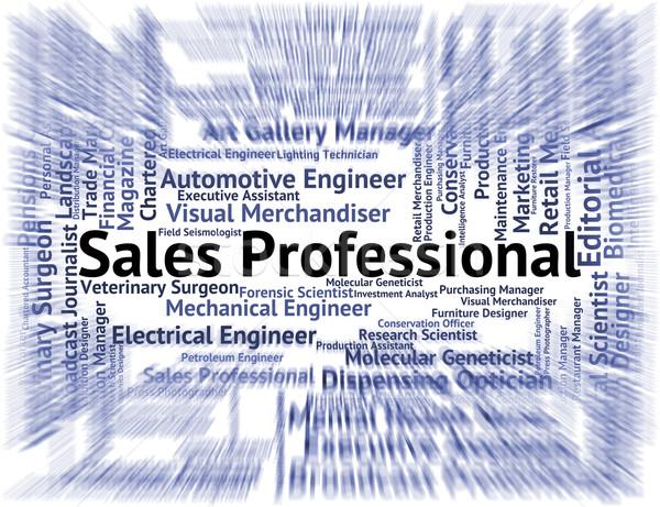 Sales Professional Shows Expertise Job And Marketing Stock photo © stuartmiles