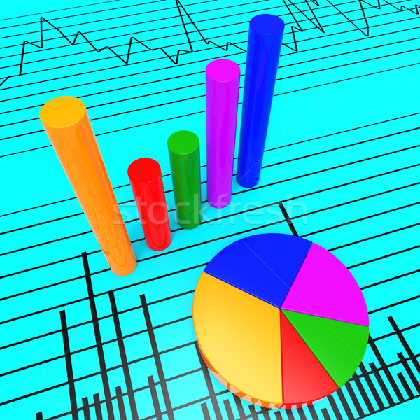 Graph Report Shows Infochart Document And Investment Stock photo © stuartmiles