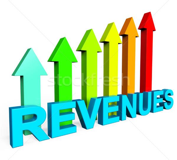 Revenues Increasing Indicates Financial Report And Diagram Stock photo © stuartmiles