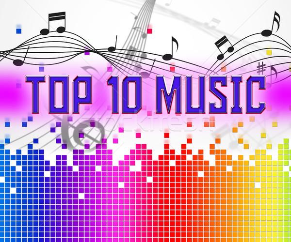 Music Charts Represents Hit Parade And Hits Stock photo © stuartmiles