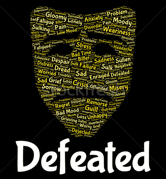 Stock photo: Defeated Word Indicates Overcome Vanquish And Beaten