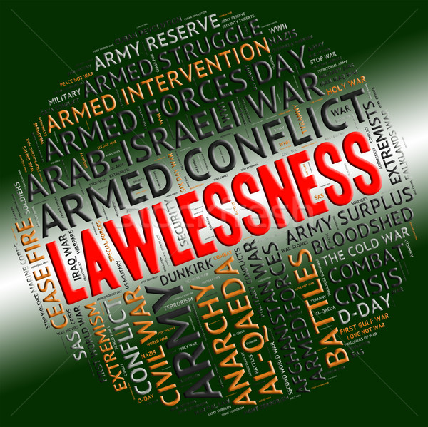 Lawlessness Word Shows Insurrectionary Wordcloud And Wordclouds Stock photo © stuartmiles