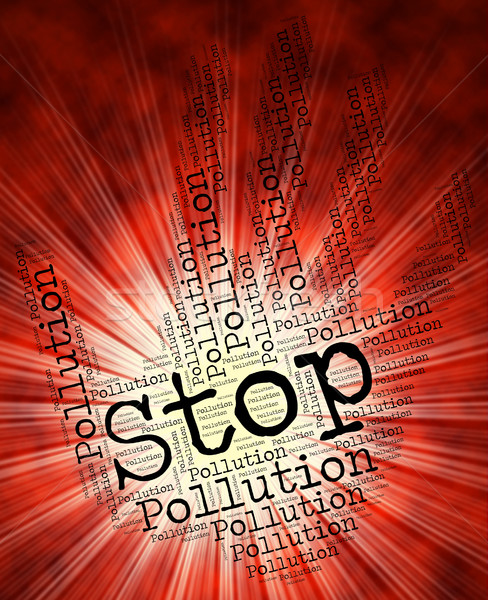 Arrêter pollution prudence air Photo stock © stuartmiles