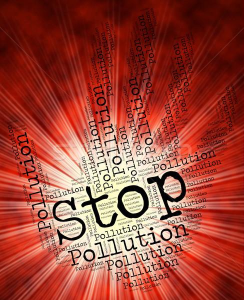 Parada contaminación precaución aire Foto stock © stuartmiles