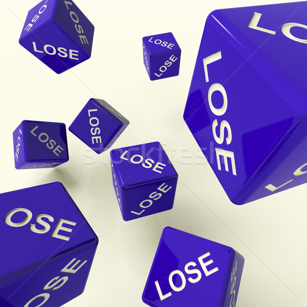 Lose Dice Representing Defeat And Loss Stock photo © stuartmiles