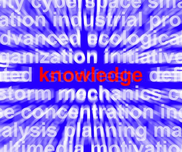 Kennis woord tonen onderwijs wijsheid leren Stockfoto © stuartmiles