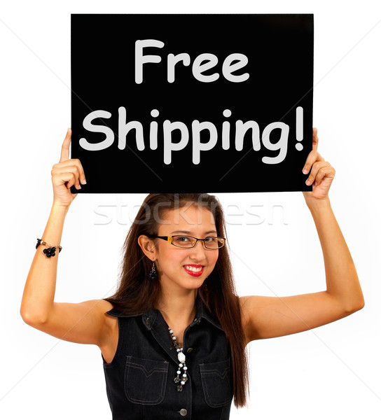Free Shipping Board Shows No Charge To Deliver Stock photo © stuartmiles