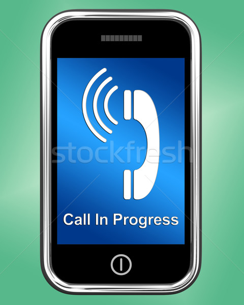 Call In Progress Message On Mobile Phone Stock photo © stuartmiles