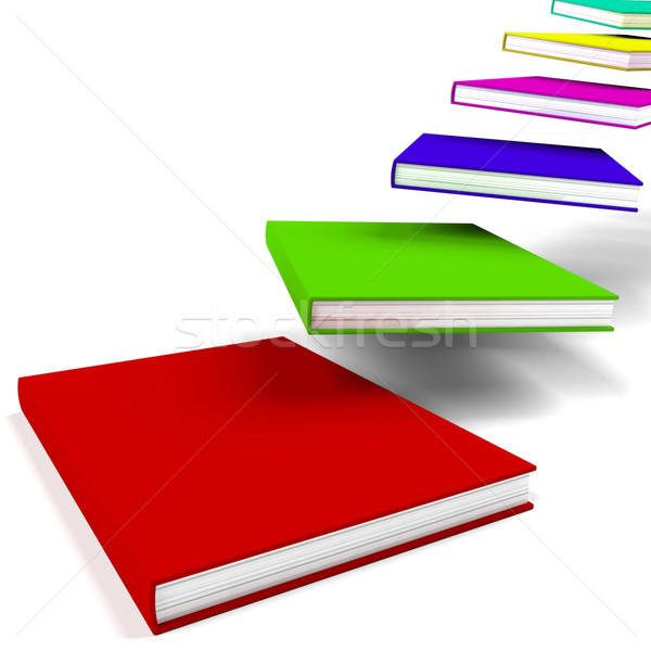 Books Flying In Or Away Shows Education Stock photo © stuartmiles