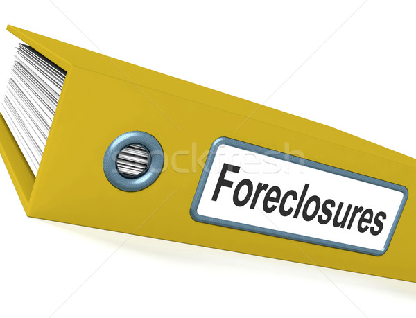 Stock photo: Foreclosures File Shows Bankruptcy And Eviction