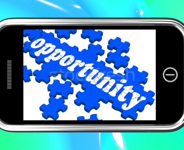 Opportunity On Smartphone Shows Big Chances Stock photo © stuartmiles
