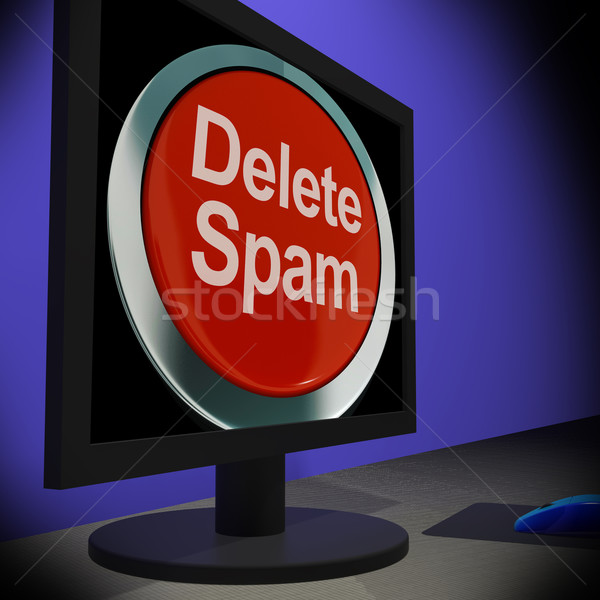 Delete Spam On Monitor Shows Unwanted Email Stock photo © stuartmiles