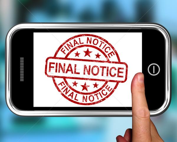 окончательный смартфон оплата напоминание веб Сток-фото © stuartmiles