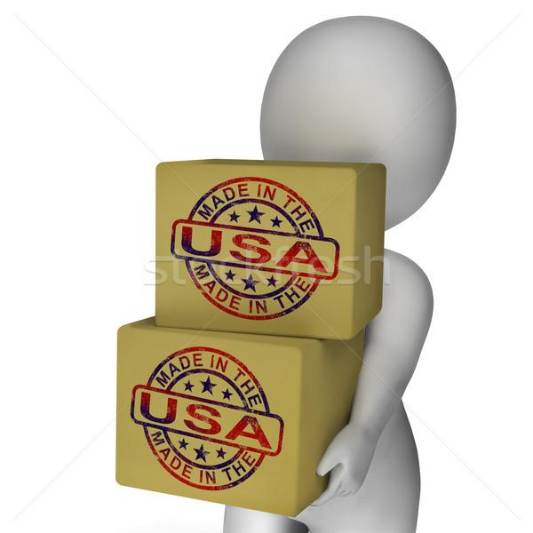 ABD damga kutuları amerikan ürünleri Stok fotoğraf © stuartmiles