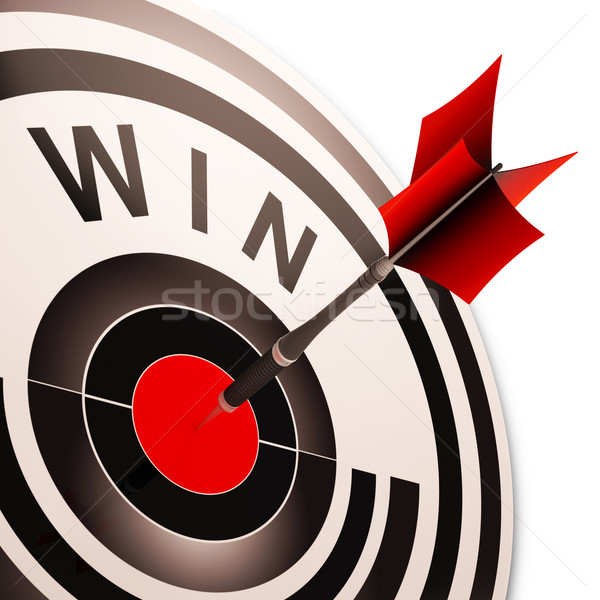 Vincere target vittoria vincitore progresso Foto d'archivio © stuartmiles