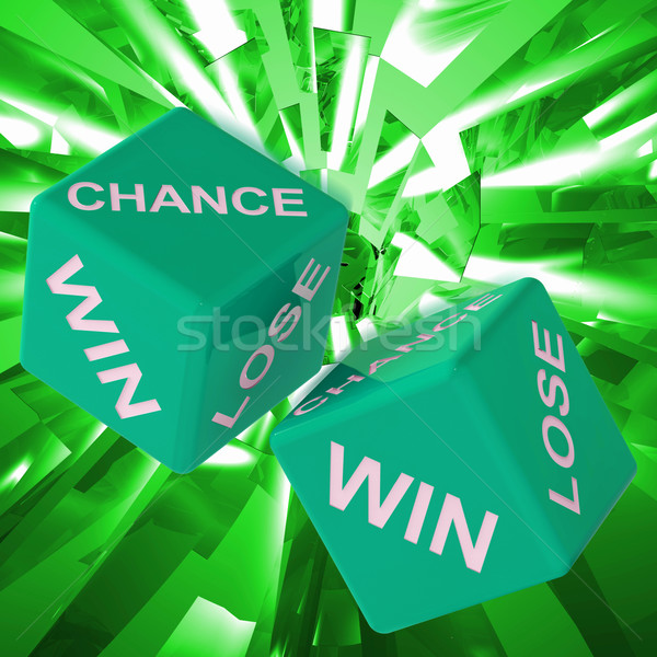 Chance, Win, Lose Dice Background Showing Gamble Losers  Stock photo © stuartmiles