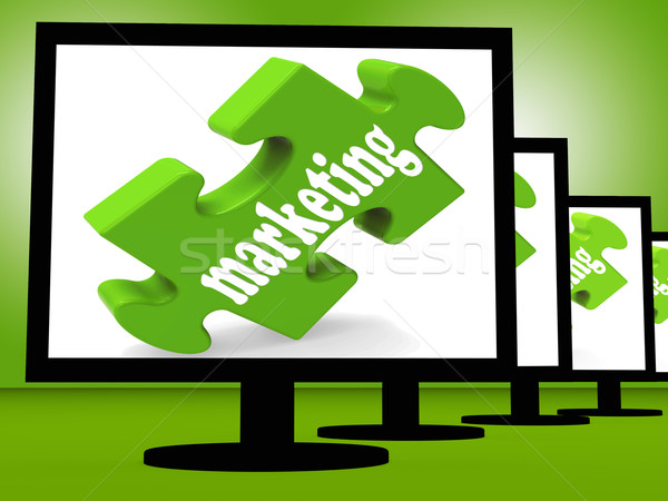 Marketing On Monitors Shows Advertisement Stock photo © stuartmiles