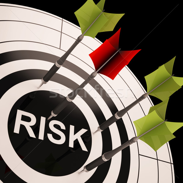 Risk On Dartboard Shows Risky Business Stock photo © stuartmiles