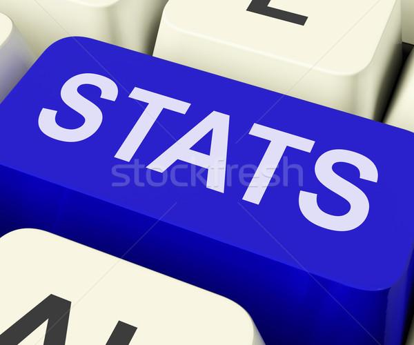 Statistiche chiave statistiche relazione analisi Foto d'archivio © stuartmiles