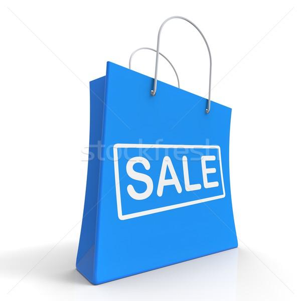 Sale Shopping Bag Shows Discount Or Promo Stock photo © stuartmiles
