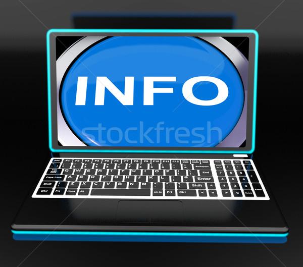 Informações laptop computador conhecimento informação significado Foto stock © stuartmiles