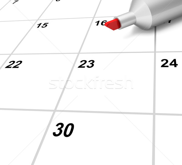 Blank Calendar Shows Plan Appointment Schedule Or Event Stock photo © stuartmiles