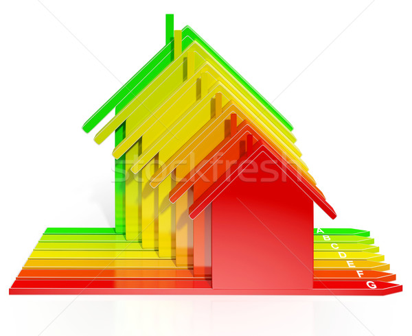 Energie-efficiëntie huizen show eco home milieu Stockfoto © stuartmiles