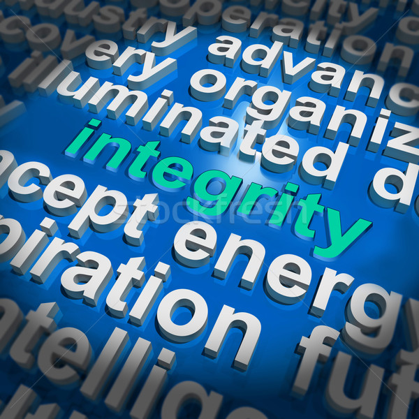 Integrity Word Cloud Shows Honesty Morality And Trust Stock photo © stuartmiles