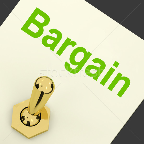 Bargain Switch Shows Discount Promotion Or Markdown Stock photo © stuartmiles