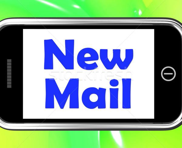 新しい メール 電話 警告 受信トレイ ストックフォト © stuartmiles