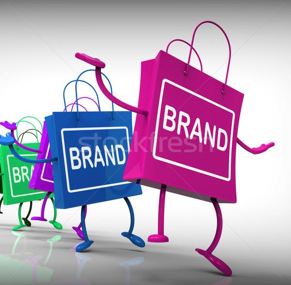 Marca borse marketing etichette mercato società Foto d'archivio © stuartmiles
