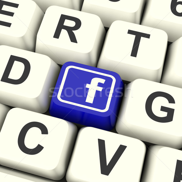 Facebook Key Means Connect To Face Book Stock photo © stuartmiles