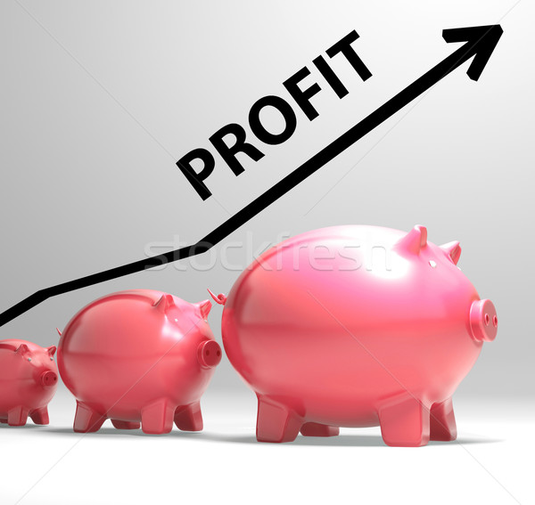 Profit Arrow Shows Sales And Earnings Projection Stock photo © stuartmiles
