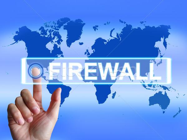 Firewall kaart internet veiligheid veiligheid bescherming Stockfoto © stuartmiles