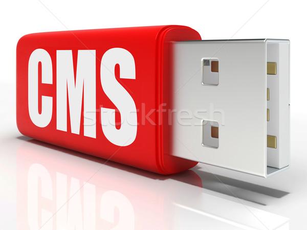 Cms pióro dysk zawartość zarządzania znaczenie Zdjęcia stock © stuartmiles