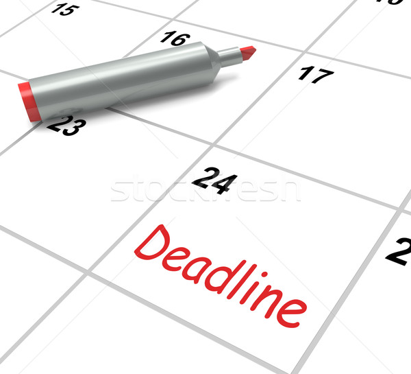 Deadline Calendar Shows Due Date And Cutoff Stock photo © stuartmiles