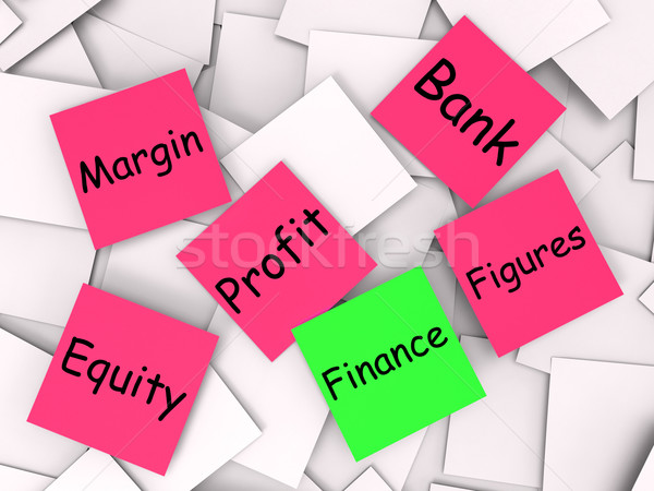 Finance Post-It Note Shows Equity Or Margin Stock photo © stuartmiles